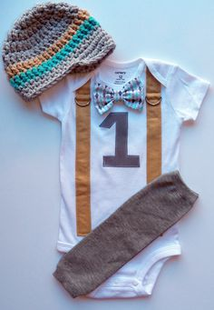 Baby Boy First Birthday Outfit Boys Birthday by shopantsypants