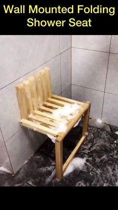 Provides stability and comfort in the bath or shower. Fold-up design saves space in the shower. Folding Wooden Stool, Folding Furniture, Diy Furniture Couch, Diy Furniture Plans Wood Projects, Space Saving Furniture, Furniture For Small Spaces, Furniture Design, Wooden Stools, Furniture Storage