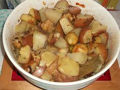 Cinco sentidos na cozinha: Batatas e castanhas assadas no forno
