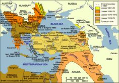 Map of decline of Ottoman Empire