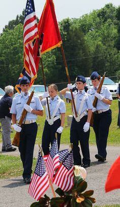 Tullahoma Composite Squadron Civil Air Patrol presenting colors