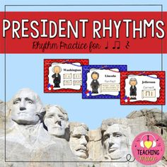 Let's get presidential! Play this fun & engaging rhythm activity with your 1st or 2nd grade students to focus on connecting syllables to basic rhythms. Students determine the syllables in a president's name and choose the rhythm that matches. Correct answers are rewarded with a kid-friendly fun fact your