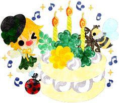 春のフリーのイラスト素材可愛い女の子とクローバーのケーキ  Free Illustration of spring A cute girl and a cake of clover   http://ift.tt/2nt9aXi