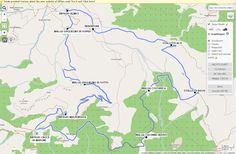 PARTENZA: Rifugio Croce Di Marone MT.1166  ARRIVO: Castel Bertino  MT 1948  GIRO COMPLETO: 4,30 - 5 ore . KM 14,60  SENTIER:I 3V - 318 - 315- 316 -317