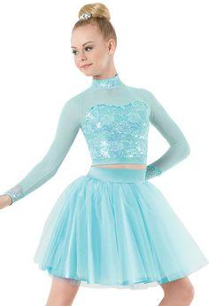Weissman™   Sequin Lace Midi Top & Ballerina Skirt