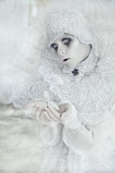 """""""Hurt by a burning love, she became as cold as the ice that always surrounds her."""""""