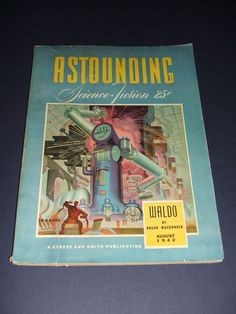 Vintage Issue of Astounding Science-Fiction for August 1942, Heinlein #Astounding