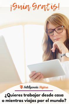 Descubre cómo trabajar desde cualquier lugar del mundo gracias a internet y con los conocimientos que ya tienes hoy. Sem Internet, Blogging, Marketing Digital, Train, Social, Ideas, World, Travel Hacks, Earn Money From Home