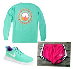 """""""Running around"""" by anna-hearne ❤ liked on Polyvore featuring NIKE and preppy"""