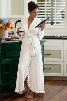 I would love to have this chenille robe. - Women Robes - Ideas of Women Robes - I would love to have this chenille robe. Pijamas Women, Chenille, Tall Women, Comfortable Outfits, Night Gown, Lounge Wear, Fashion Online, Wrap Dress, My Style