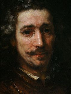 Portrait of a Man with Magnifying Glass (detail), by Rembrandt van Rijn (Dutch, This piece is interesting to me because Rembrandt was really able to capture the emotion in the man's mouth and eyes without going overboard on details. Rembrandt Portrait, Rembrandt Paintings, Portrait Art, Rembrandt Art, Pencil Portrait, Dutch Golden Age, Dutch Painters, Dutch Artists, Caravaggio