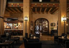 Hollywood Roosevelt Hotel    Lobby and Entrance to Public Kitchen & Bar