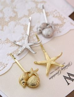 New 2014 Korean gold plated Shell clamp starfish hairpin Leaf Hair Clip Hair Accessories Jewelry Barrettes For Women Hairpins -in Hair Accessories from Women's Clothing & Accessories on Aliexpress.com | Alibaba Group