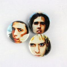 NIRVANA Pins, 3 Original Kurt Cobain Grunge buttons, 90s Alternative Rock Music Buttons by JeepsterVintage on Etsy