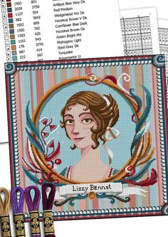 COUNTED STITCH pattern Elizabeth Bennet Jane by MrsPeggottyArts