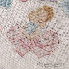0 point de croix mere et bébé romantiques - cross stitch romantic mother and baby