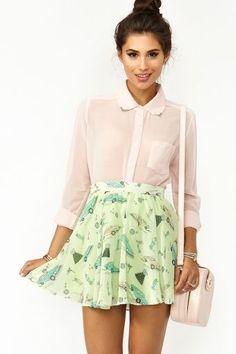 Sandy Skater Skirt