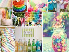 {over the rainbow} a vintage rainbow wedding @Stacey Frazier Vintage rainbow wedding...it CAN mix!  LOVE the bottled sodas!  : )