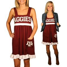 Gameday dress | Ketch the Spirit ... Gig 'em, Aggies! :)