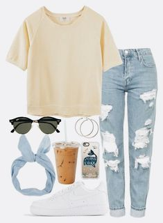 Really cute and something I could imagine myself wearing in the summer Teen School Outfits, Trendy Outfits For Teens, Cute Clothes For Girls, Teen Summer Outfits, Cute Casual Outfits For Teens, Cute Shoes For Teens, Cute Highschool Outfits, Teen Party Outfits, Cute Middle School Outfits