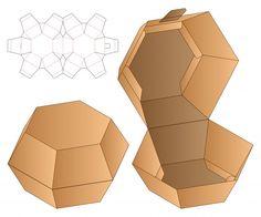 Diamond shape box packaging die cut template | Premium Vector Diy Gift Box, Paper Gift Box, Diy Box, Paper Gifts, Gift Boxes, Paper Crafts Origami, Diy Paper, Paper Art, Paper Box Template