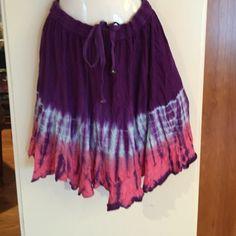 "Selling this ""SALEPurple,blue& pink tie dye skirt"" in my Poshmark closet! My username is: gnrstreasures. #shopmycloset #poshmark #fashion #shopping #style #forsale #Windhorse #Dresses & Skirts"