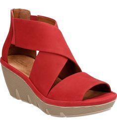 Main Image - Clarks® Clarene Glamor Wedge Sandal (Women)