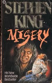 Stephan King's 1987 psychological drama/horror offering, Misery. Solid, creepy, memorable stuff.