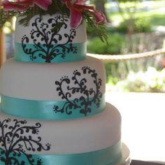 Tiffany blue and scrollwork...