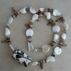 #Shell and Mother of Pearl Necklace    repin ..  like ...share :)    $39.99 Buy Now! http://amzn.to/YP6LCk