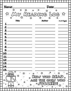 Reading Log -- overview