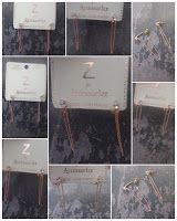 Sparkling Magpie : Z for Accessorize: Rose Gold Semi Precious Stone &...