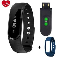 Jpilis Heart Rate Fitness Tracker,Wirless Fitness Tracker,Smart Bracelet,Sport Wristband with Multi-Functions Activity Smart Bracelet Pedometer Watch for Android and IOS Smart Phones >>> To view further for this item, visit the image link. (This is an affiliate link) #Accessories