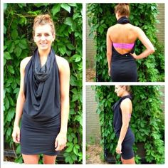 Lululemon covers it all dress. Cute stretchy Lululemon dress. In great conditions. Can be worn in many ways. lululemon athletica Dresses Mini