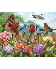 Birds /& Butterflies 550 Piece Puzzle The Cardinal by Sure-Lox