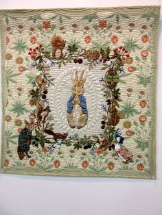 Peter Rabbit (Beatrix Potter) quilt by Yoko Saito.  2016 Tokyo International Great Quilt Festival.  Photo by Queenie Patch.
