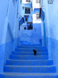 Chefchaouen in Morocco. Seriously one of the most amazing places I have laid my eyes on - one day I'll go there.