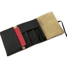 Mini iPad 2/3/4 Case étui en cuir - Housse Sac Etui en cuir Folio en cuir - Noir Ipad, Couture, Wallet, Bags, Fashion, Leather Case, Brown Leather, Black Leather, Pen Holders