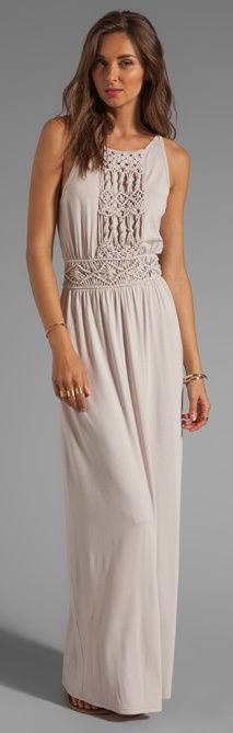 Simple and decent long dress for ladies