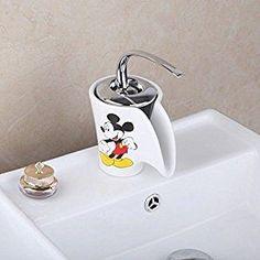 Bathroom Contemporary Ceramics Mickey Basin Sink Mixer Tap Faucet  by LifePlusPlus