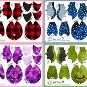 Cut & Sew Bat Compilation Dark by sewdesune