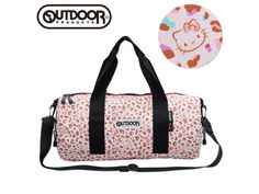 Hello Kitty x OUTDOOR Overnight Travel Roll Bag Leopard Pink SANRIO