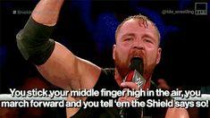 Wwe Dean Ambrose, The Shield Wwe, Seth Rollins, Roman Reigns, Maid Of Honor, Believe, Wrestling, Tumblr, Asylum