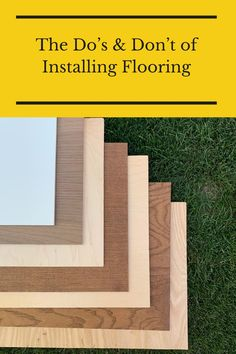 Before installing new floors, check out these do's and don'ts. Flooring 101, Floors, Stuff To Do, Check, Home Tiles, Flats, Floor, Flooring