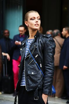 Models love a great moto jacket - Frida Gustavsson