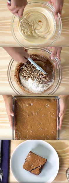 Brownie Fit de Aveia #brownie #Brownie Fit de Aveia #comida #culinaria #gastromina #receita #receitas #receitafacil #chef #receitasfaceis #receitasrapidas