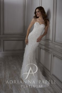 79 best Adrianna Papell Platinum Bridal Gowns images on Pinterest