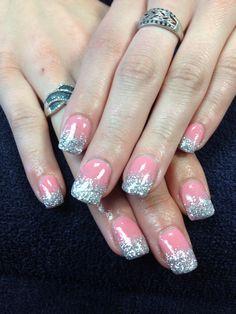 Desa's nails. Pretty in pink gel nail art.