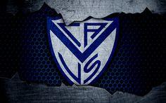壁紙をダウンロードする ベレスSarsfield, 4k, Superliga, ロゴ, グランジ, アルゼンチン, サッカー, サッカークラブ, 金属の質感, 美術, ベレスSarsfield FC