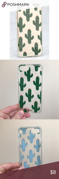 Sonix Cactus iPhone 7 Case Very gently used (had on my phone for about a week) Sonix cactus iPhone 7 case, purchased from a local boutique but sold through Nordstroms and Francesca's Collections. Light surface level scratches (pictured) but not noticeable when on. No other damage, no stretching, no discoloration. Lulu's Accessories Phone Cases